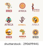 africa and safari elements and... | Shutterstock .eps vector #290699441