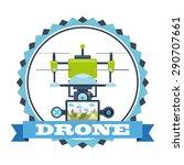 drone technology design  vector ... | Shutterstock .eps vector #290707661