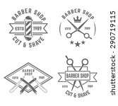 barbershop set of vector... | Shutterstock .eps vector #290719115
