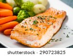 salmon fillet with mixed... | Shutterstock . vector #290723825