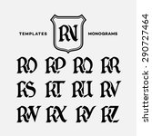 Monogram Design Template With...