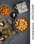 islamic festive still life. eid ... | Shutterstock . vector #290731049