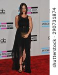 Small photo of LOS ANGELES, CA - NOVEMBER 20, 2011: Alanis Morissette arriving at the 2011 American Music Awards at the Nokia Theatre, L.A. Live in downtown Los Angeles.