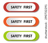 safety first sign | Shutterstock .eps vector #290732291