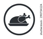turkey icon.  | Shutterstock .eps vector #290734124