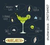 stock popular alcoholic... | Shutterstock .eps vector #290734907