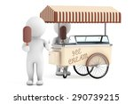 3d white person with ice cream... | Shutterstock . vector #290739215