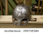 Stock photo a reproduction viking age spectacled helmet 290739284