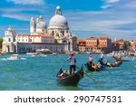 Picturesque View Of Gondolas O...