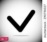yes icon  vector illustration. ... | Shutterstock .eps vector #290750327