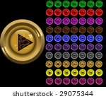 volume buttons for a player.... | Shutterstock .eps vector #29075344