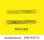 tire tracks background | Shutterstock .eps vector #290753771