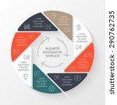 vector circle infographic.... | Shutterstock .eps vector #290762735