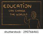 education can change the world  ... | Shutterstock . vector #290766461