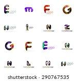 set of new universal company... | Shutterstock .eps vector #290767535