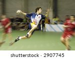 handball player jumping with... | Shutterstock . vector #2907745