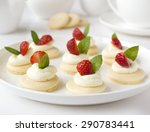 many cakes  cupcakes with fresh ... | Shutterstock . vector #290783441