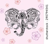 Vector Abstract Elephant In...
