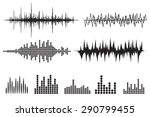 sound wave icon set. equalize... | Shutterstock .eps vector #290799455