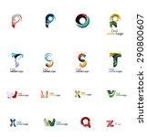 abstract company logo... | Shutterstock . vector #290800607