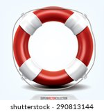 life buoy isolated on white.... | Shutterstock .eps vector #290813144
