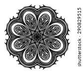 vector beautiful deco black... | Shutterstock .eps vector #290829515