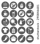 icons kitchen  restaurant  cafe ... | Shutterstock .eps vector #290846681