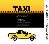 taxi service abstract... | Shutterstock .eps vector #290851145