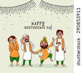 happy men of different religion ...   Shutterstock .eps vector #290853911