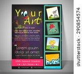 kiddish flyer and banner for... | Shutterstock .eps vector #290854574