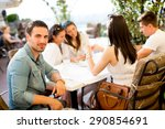 young people by the table | Shutterstock . vector #290854691