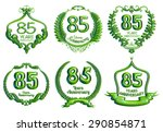 85 years anniversary emblems... | Shutterstock . vector #290854871