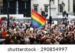 rainbow flag in london's gay... | Shutterstock . vector #290854997