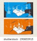 beautiful website header or... | Shutterstock .eps vector #290855915