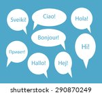 set of speech bubble with hello ... | Shutterstock .eps vector #290870249