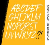 alphabet letters  uppercase.... | Shutterstock .eps vector #290876501