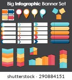 big set of infographic banner... | Shutterstock . vector #290884151