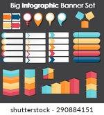 big set of infographic banner... | Shutterstock . vector #290884151