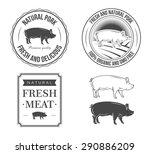 pork labels | Shutterstock .eps vector #290886209