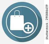 shopping bags on white circle... | Shutterstock .eps vector #290886659