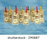Clean money - stock photo