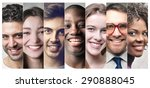 smiling people's portraits | Shutterstock . vector #290888045