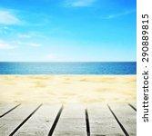 wooden path near summer beach... | Shutterstock . vector #290889815