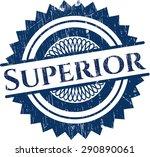 superior rubber grunge stamp | Shutterstock .eps vector #290890061