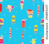 cute seamless pattern with... | Shutterstock .eps vector #290893157