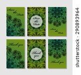 vintage vector card templates.... | Shutterstock .eps vector #290893964