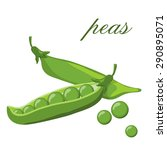 Pods Of Green Peas Isolated...