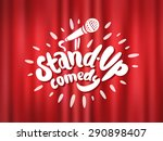 stand up comedy. | Shutterstock .eps vector #290898407