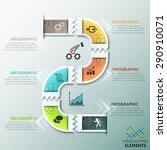 modern infographics process... | Shutterstock .eps vector #290910071