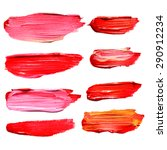 hand drawn oil paint strokes.... | Shutterstock .eps vector #290912234